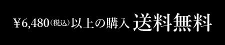 ¥6,480(税込)以上の購入送料無料